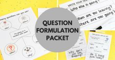 Question Formulation Maps
