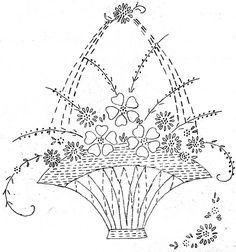 Flower Basket Embroidery pattern via Flickr