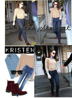 """Kristen Stewart style."" by mariancrespo ❤ liked on Polyvore"