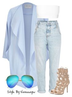 """""""#588"""" by vanessayev ❤ liked on Polyvore featuring мода, River Island, Balmain и Victoria Beckham"""