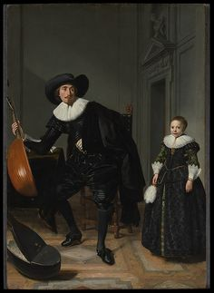 Thomas de Keyser - Portrait of a Man with his Daughter