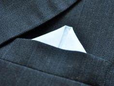 Wing Puff Mens Handkerchief Pocket Square Fold