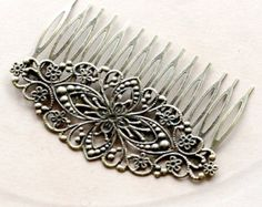 5Pcs Wholesale Antique bronze plated  Filigree hair comb Setting NICKEL FREE(COMBSS-19) for tilly