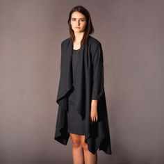 Waterfall Coat – Charcoal from Take Care WINTER 2013 - R1,499 (Save 21%)