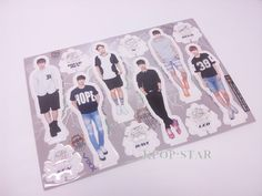 VIXX Standing Paper Doll Korean Pop Star KPOP K POP K-POP Paper Doll