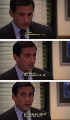 Most memorable quotes from Michael Scott, a movie based on film. Find important Michael Scott Quotes from film. Michael Scott Quotes about life in the Dunder Mifflin paper company. Michael Scott The Office, Michael Scott Quotes, Office Memes, Office Quotes, That's What She Said, Flirting Quotes For Him, Pimples, Best Shows Ever, I Laughed