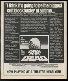 Dawn Of The Dead (1978) Dir. George A. Romero. Newspaper ad.