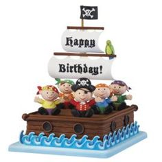 Birthday on the Bounty Cake. Take to the high seas with a crew of brownie buccaneers on a fondant freighter rigged out for fun!