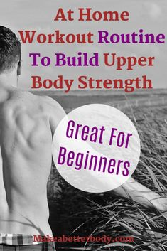Great At Home Workout Routine To Build Upper Body Strength - Great for beginners! This at home workout routine will help to build powerful upper body strength a - Beginner Upper Body Workout, Beginner Workout At Home, Body Workout At Home, Workout For Beginners, Beginner Workouts, Bodyweight Strength Training, Strength Training For Beginners, Endurance Workout, Home Exercise Routines