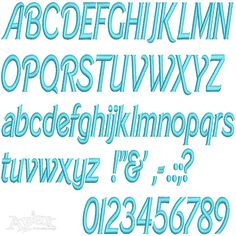 """Barbie Embroidery Fonts. All satin stitch. Size: .75"""", 1"""" ,1.5"""", 2"""""""