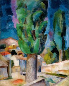 Robert Falk - Crimea. Lombardy Popular, 1915, oil on canvas