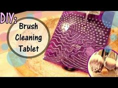 DIY Brush Cleaning Tablet: Genius -  I made one and I love it. It get's my brushes so clean and it cost me almost nothing. $1 for the clipboard and the hot glue I already had.