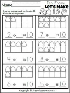 Worksheets Common Core Worksheets For Kindergarten kindergarten common core winter picture and math worksheets on free lets make 10 gumdrop addition worksheet for christmas holiday aligned to