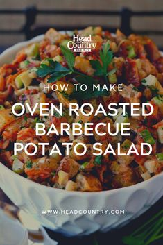 Oven Roasted Barbecue Potato Salad | BBQ Bacon Potato Salad Recipe | Best BBQ Sides | Ideas For Sides At The Barbecue Best Bbq Recipes, Healthy Grilling Recipes, Bbq Salads, Salads To Go, Best Thanksgiving Recipes, Best Christmas Recipes, Bacon Potato, Bbq Bacon, Head Country Bbq Sauce Recipe