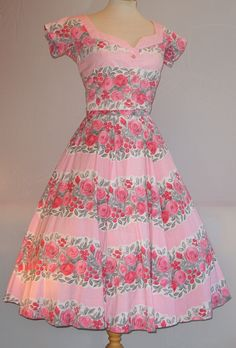 From my own Horrockses collection, and matching pink floral striped sun dress and bolero jacket.