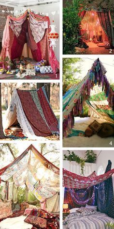 15 Gorgeous Moroccan Bohemian Party Decor Ideas - Bohemian Home Kitchen Bohemian Interior Design, Bohemian Bedroom Decor, Moroccan Design, Boho Decor, Bohemian Theme, Bohemian Gypsy, Teepee Tent Camping, Backyard Camping, Tents