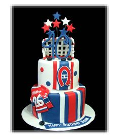 Montreal Canadiens Birthday Cake --- cake idea for Matt this year Montreal Canadiens, Mtl Canadiens, Beautiful Cake Pictures, Beautiful Cakes, Amazing Cakes, Cupcakes, Cupcake Cookies, Hockey Birthday Cake, Birthday Cakes