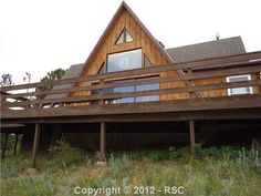 Great A-Frame high atop a corner lot. Views to the south with great southern exposure. Large deck with great outdoor entertainment and viewing the wildlife abound! #ColoradoSprings