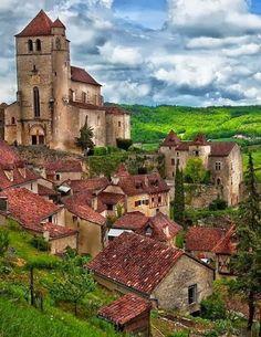 Saint Cirq Lapopie, Lot, Midi Pyreneeën, www.luxetent.nl