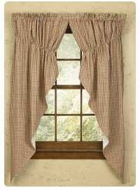 Classic Country Burlap Swag Window Valance Window