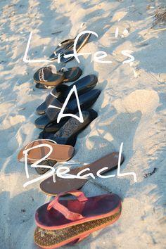 Life's a Beach! Flip flops in the sand Cabana, Summer Beach, Summer Fun, Costa Maya, I Love The Beach, Beach Flip Flops, Beach Quotes, Beach Signs, Florida Beaches