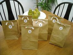 """Long car trip goody bags- numbered so they can open a new one every hour. Also lets them know """"how much longer"""" is left."""