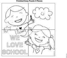 free back to school activity puzzles original artwork
