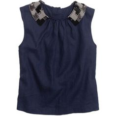 Pre-owned Rachel Antonoff Navy Lil Ricky Top ($127) ❤ liked on Polyvore