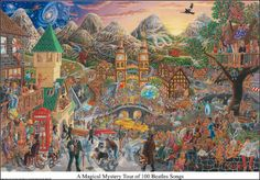 Tom Masse A Magical Mystery Tour Of 100 Beatles Songs Poster $13.95 trippystore.com