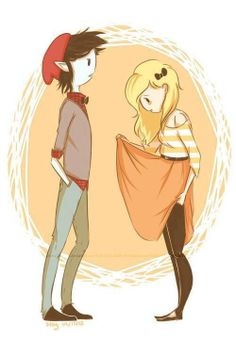 The cutest picture EVER od Fionna and Marshall! OTP!!!