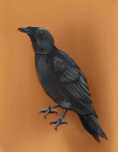 Jointed Paper Crow -Assembled- By Lucajenn - Etsy