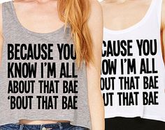 All About That Bae Cropped Tank Top