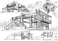 Drawing Architecture Warsaw - design idea Szkic - Architektura Warszawa Koncepcja Pomysł na dobry dom rodzinny http://www.mkarchitekci.com.pl/