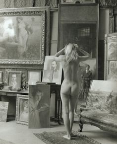 Jeanloup Sieff, 1962   Nude with Self Portrait,1962   Michelle