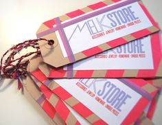 Thank you cards Melkstore made with MT masking tape!