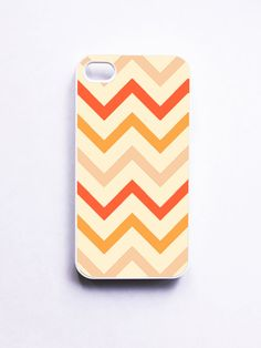 Tangerine Chevron iphone Case Cases for iphone by onyourcasestore, $16.99