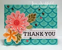 Stamped Silly: Flower Patch meets Striped Scallop Die - Stampin' Up!