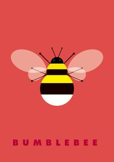Bumblebee - Insects & Bugs by Graphic Nothing (Gary Andrew Clarke), via Behance