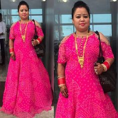 Want to know about quality Elegant Designer Salwar suit and ladies Punjabi Suit then you'll like this Click visit link above for more options Indian Gowns, Indian Wear, Indian Suits, Designer Punjabi Suits, Indian Designer Wear, Dress Neck Designs, Blouse Designs, Bharti Singh, Big Size Dress