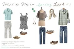 Fresh spring looks for your entire family! These combinations will have each of you looking stylish and put together for the upcoming family portrait fashion. Family Portrait Outfits, Family Picture Outfits, Family Portraits, Beach Portraits, Family Photos What To Wear, Beach Family Photos, Family Pictures, Beach Pics, Dad Outfit