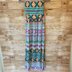 Maxi dress Retail. New without tags. Only 1 is available. Size small. Strapless dress. Beautiful bright print perfect for summer! Dresses Maxi