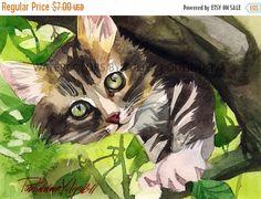 Il s'agit d'une impression numérique de mon aquarelle originale de chaton tigré «Arbre de Pirate» S'il vous plaît noter: il s'agit d'une impression de téléchargement instantané, vous ne recevrez aucun élément physique. Vous recevrez 1 image JPEG (approprié pour n'importe quel pogram) de haute résolution (300dpi). Vous pouvez faire autant de copies que vous le souhaitez. Imprimer à la maison ou aller dans un magasin d'impression. Pour une meilleure qualité, je recommande d'imprimer sur du…