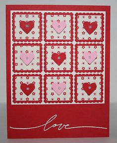 Handmade Greeting Card x1 w enV Stampin Up Heart Punch Valentine Love | eBay