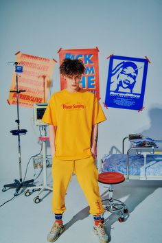 BA Online Store - BA PS TEE YELLOW (OFFICIAL LIMITED) - 베리드얼라이브 Buried Alive Look Fashion, Korean Fashion, Fashion Outfits, Fashion Tips, 90s Fashion, Winter Fashion, Moda Converse, Portrait Photography, Fashion Photography