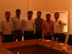 Manuj with the team at Bajaj Fineserv — in Pune, Maharashtra.