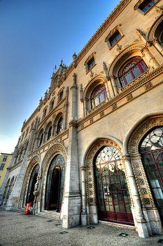 Estação Central do Rossio, aan de Praça Dom João da Câmara, stadsdeel Baixa, Lisboa