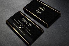 Black Business Card Template Inspirational Gold and Black Business Card 40 Business Card Templates Double Sided Business Cards, Luxury Business Cards, Black Business Card, Modern Business Cards, Business Card Logo, Business Card Design, Creative Business, Business Card Template Word, Business Templates