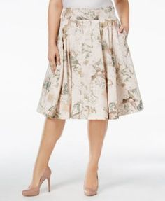 a86cc576a9c Melissa McCarthy Seven7 Plus Size Printed A-Line Skirt Plus Sizes - Trendy Plus  Sizes - Macy s