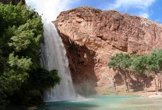 A magical place in the middle of Arizona with waterfalls and awesome scenery. #havasupai #havasupaifalls