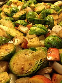 Harvest Brussels Sprouts with Balsamic Glazed Walnuts  #paleo